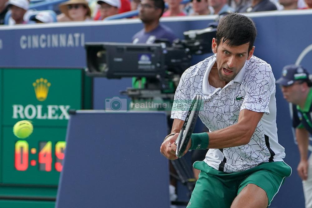 August 19, 2018 - Mason, Ohio, USA - Novak Djokovic (SRB) 'b1'Sunday's final round of the Western and Southern Open at the Lindner Family Tennis Center, Mason, Oh. (Credit Image: © Scott Stuart via ZUMA Wire)