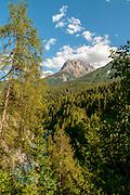 Alpine landscape, photographed near Scuol, Switzerland