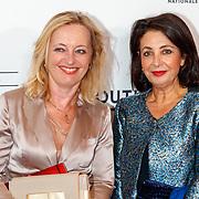 NLD/Amsterdam/20180908 - inloop Gala Het Nationale Ballet 2018, politica Jet Bussemaker en Khadija Arib