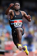 Jonathan Ilori competing in the Men's Triple Jump Final.The British Championships 2016, athletics event at the Alexander Stadium in Birmingham, Midlands  on Saturday 25th June 2016.<br /> pic by John Patrick Fletcher, Andrew Orchard sports photography.