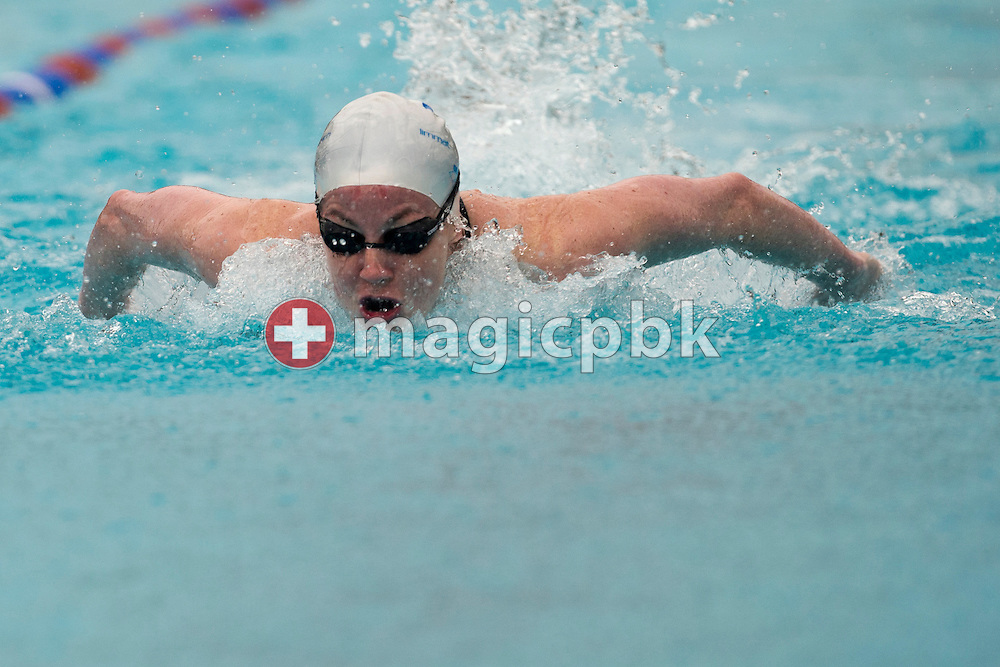 LIMM's Danielle VILLARS of Switzerland competes in the women's 50m Butterfly Final during the Swiss Swimming Summer Championships held at the 50m outdoor pool Colovray in Nyon, Switzerland, Sunday, July 1, 2012. (Photo by Patrick B. Kraemer / MAGICPBK)