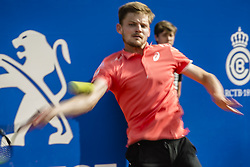 April 28, 2018 - Barcelona, Catalonia, Spain - DAVID GOFFIN (BEL) returns the ball to Rafael Nadal (ESP) in their semi-final of the 'Barcelona Open Banc Sabadell' 2018. Nadal won 6:4, 6:0 (Credit Image: © Matthias Oesterle via ZUMA Wire)