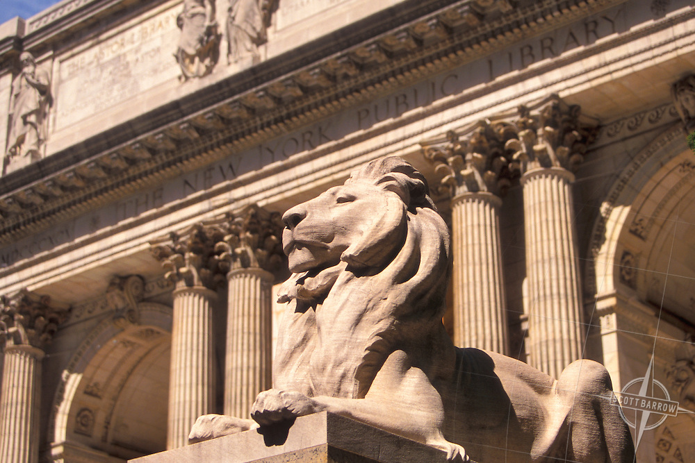 Lions guarding the New York Public Library