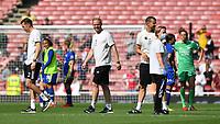 Football - 2021 / 2022 Women's Super League - Arsenal vs Chelsea - Emirates Stadium - Sunday 5th September 2021<br /> <br /> Arsenal Women's Head Coach, Jonas Eidevall (centre) at the final whistle.<br /> <br /> COLORSPORT/Ashley Western