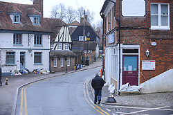 © Licensed to London News Pictures. 27/12/2013<br /> High Street, Yalding village.<br /> Yalding flood water in Kent has receded leaving locals counting the cost of the damage.<br /> Flood water starts to recede over night across Kent.<br /> Photo credit :Grant Falvey/LNP