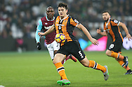 Harry Maguire of Hull City in action. Premier league match, West Ham Utd v Hull city at the London Stadium, Queen Elizabeth Olympic Park in London on Saturday 17th December 2016.<br /> pic by John Patrick Fletcher, Andrew Orchard sports photography.