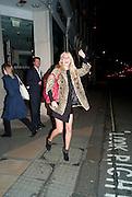 POPPY DELEVIGNE, HAILING TAXI Vogue: Fashion's Night Out:New Bond Street, London. 8 September 2010.  -DO NOT ARCHIVE-© Copyright Photograph by Dafydd Jones. 248 Clapham Rd. London SW9 0PZ. Tel 0207 820 0771. www.dafjones.com.