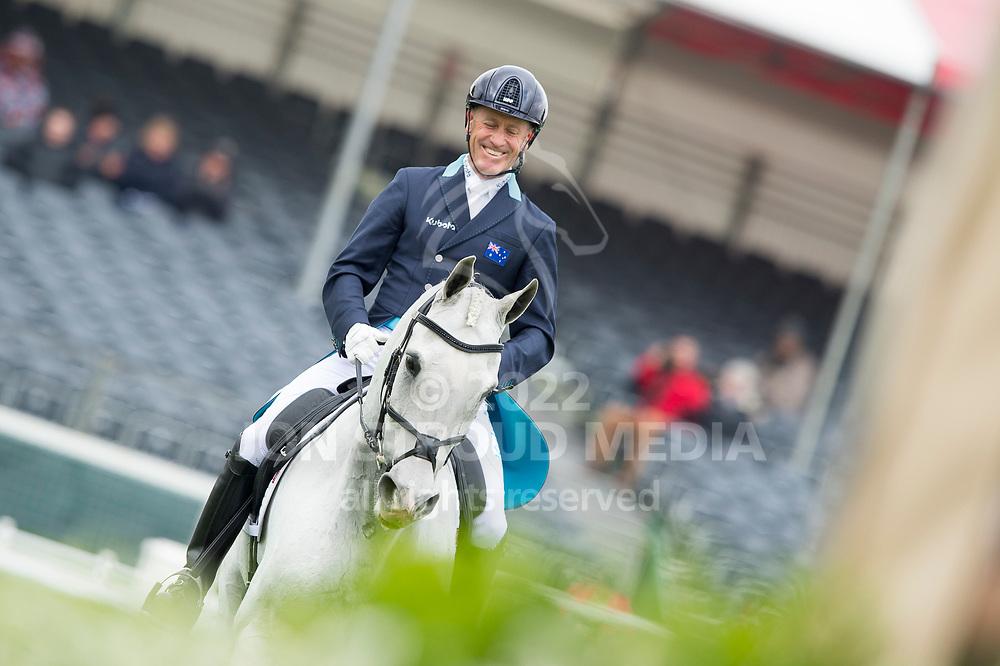 Andrew Hoy (AUS) & The Blue Frontier - Dressage - Mitsubishi Motors Badminton Horse Trials - Badminton, Gloucestershire, United Kingdom - 04 May 2017