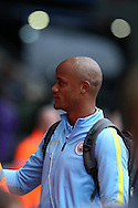 Vincent Kompany of Manchester city who has been named in tonights starting lineup arrives at the Stadium ahead of the game. EFL Cup. 3rd round match, Swansea city v Manchester city at the Liberty Stadium in Swansea, South Wales on Wednesday 21st September 2016.<br /> pic by  Andrew Orchard, Andrew Orchard sports photography.