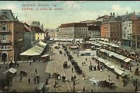 Zagreb, Jelačićev trg = Agram, La Place de Jelačić. <br /> <br /> ImpresumLeipzig : Dr. Trenkler & Co., 1906.<br /> Materijalni opis1 razglednica : tisak ; 8,8 x 13,8 cm.<br /> NakladnikDr. Trenkler Co.<br /> Vrstavizualna građa<br /> ZbirkaZbirka razglednica • Grafička zbirka NSK<br /> ProjektPozdrav iz Zagreba • Pozdrav iz Hrvatske<br /> Formatimage/jpeg<br /> PredmetZagreb –– Trg bana Josipa Jelačića<br /> SignaturaRZG-JEL-8<br /> Obuhvat(vremenski)20. stoljeće<br /> NapomenaRazglednica je putovala 1907. godine.<br /> PravaJavno dobro<br /> Identifikatori000952400<br /> NBN.HRNBN: urn:nbn:hr:238:563015 <br /> <br /> Izvor: Digitalne zbirke Nacionalne i sveučilišne knjižnice u Zagrebu