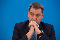 DEU, Deutschland, Germany, Berlin, 07.06.2019: Bayerns Ministerpräsident Markus Söder (CSU) in der Bundespressekonferenz zum Thema Zukunft der Automobilindustrie.