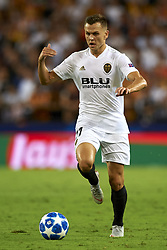 September 19, 2018 - Valencia, Spain - Denis Cheryshev controls the ball during the Group H match of the UEFA Champions League between Valencia CF and Juventus at Mestalla Stadium on September 19, 2018 in Valencia, Spain. (Credit Image: © Jose Breton/NurPhoto/ZUMA Press)