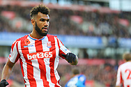 Eric Maxim Choupo-Moting of Stoke City looks on. Premier league match, Stoke City v Leicester City at the Bet365 Stadium in Stoke on Trent, Staffs on Saturday 4th November 2017.<br /> pic by Chris Stading, Andrew Orchard sports photography.