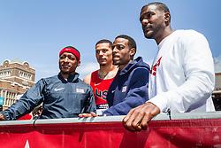 Penn RelaysPenn Relays, USA vs the World, USA men's 4 x 400 relay team, Rodgers, Bailey, Young, Gatlin