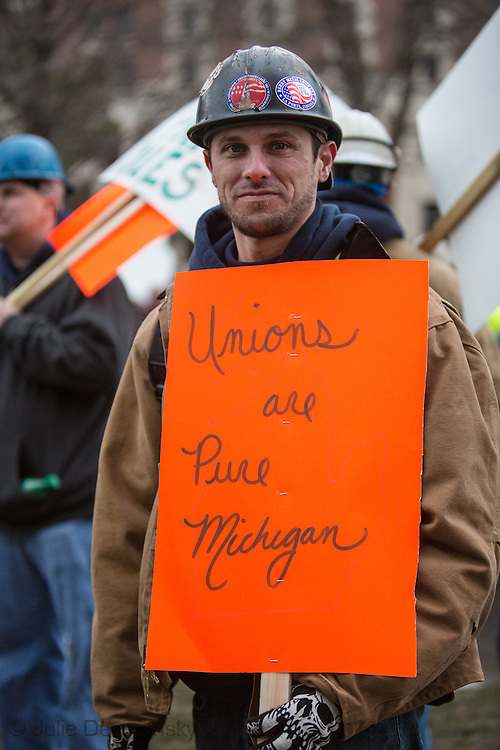 Union Worker at protest