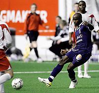 Fotball , 15. Februar 2008 , Treningskamp i Østfoldhallen , Fredrikstad - Strømsgodset , James Chamanga Strømsgodset , Foto: Thomas Andersen , Digitalsport