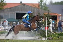 Balcaen Tine (BEL) - Joly's Doortje<br /> Nationaal Kampioenschap Eventing Pony's <br /> LRV Gavere 2014<br /> © Dirk Caremans
