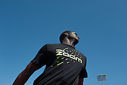 Kirani James (pictured) of Grenada ran a 43.97 dead heat with Lashawn Merritt of the USA in the Prefontaine Classic Men's 400m. The Prefontaine Classic, the longest-running international invitational meet in the United States, turns 40 this year.<br /> The 2014 elite competition held in Eugene, Oregon at the University of Oregon's historic Hayward Field is in it's 5th year hosting the IAAF's Diamond League event.