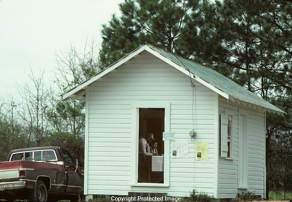 Voting.    A polling place in rural Alabama  ..Photograph by Dennis Brack  bb22