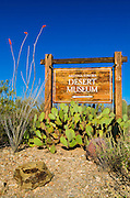 Arizona-Sonora Desert Museum sign, Tucson, Arizona USA