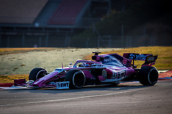 February 19, 2019 - Montmelo, Barcelona, Catalonia, Spain - Barcelona-Catalunya Circuit, Montmelo, Catalonia, Spain - 19/02/2018: Lance Stroll of SportPesa Racing Point F1 Team car during second journey of F1 Test Days in Montmelo circuit. (Credit Image: © Javier MartíNez De La Puente/SOPA Images via ZUMA Wire)
