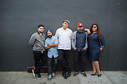 Sonido Clash pose for a portrait in the SoFA neighborhood of San Jose, California, on July 8, 2015. (Stan Olszewski/SOSKIphoto for Content Magazine)