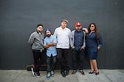 Sonido Clash pose for a portrait in the SoFA neighborhood of San Jose, California, on July 8, 2015. (Stan Olszewski/SOSKIphoto for Content Magazine)