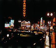 CS01113-08. SW Broadway looking north from Madison. January 1961.