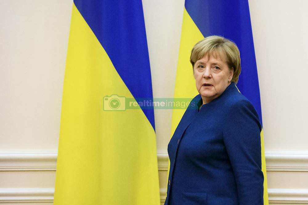 November 1, 2018 - Kiev, Ukraine - German Chancellor Angela Merkel during her meeting with Ukrainian Prime Minister Volodymyr Groysman (not pictured) in Kyiv, Ukraine, 01 November 2018. (Credit Image: © Maxym Marusenko/NurPhoto via ZUMA Press)