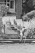 """Kingston on Thames, United Kingdom.    """"Punting"""" The final Round of the Leyland Daf Sprint series, at Kingston RC on the River Thames, Surrey, England, <br /> <br /> Saturday 04.05.1987<br /> <br /> [Mandatory Credit; Peter Spurrier/Intersport-images] 1987 Leyland Daf Sprints, Kingston. UK"""