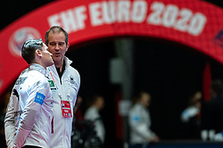 Coach Henk Groener of Germany, Coach Alexander Koke of Germany during the Women's EHF Euro 2020 match between Germany and Poland at Sydbank Arena on december 07, 2020 in Kolding, Denmark (Photo by RHF Agency/Ronald Hoogendoorn)