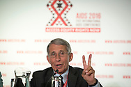 21st International AIDS Conference (AIDS 2016), Durban, South Africa.<br /> Photo shows Anthony Fauci, M.D. NIAID Director, speaking at the Towards an HIV Cure Press Conference.<br /> Photo © Steve Forrest/Workers' Photos