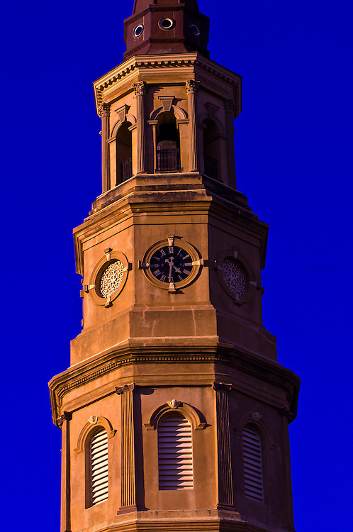 Steeple atop St. Philip's Episcopal Church, Charleston, South Carolina
