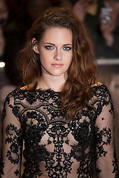 © licensed to London News Pictures. London, UK 14/11/2012. Kristen Stewart posing on the red carpet at the UK premiere of the The Twilight Saga: Breaking Dawn Part Two in Leicester Square, London. Photo credit: Tolga Akmen/LNP
