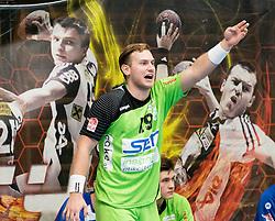 15.10.2016, Halle Hollgasse, Wien, AUT, HLA, SG INSIGNIS Handball WESTWIEN vs HC Fivers WAT Margareten, Grunddurchgang, 8. Runde, im Bild Philipp Rabenseifer (WestWien) // during Handball League Austria, 8 th round match between HC Fivers WAT Margareten and SG INSIGNIS Handball WESTWIEN at the Halle Hollgasse, Vienna, Austria on 2016/10/15, EXPA Pictures © 2016, PhotoCredit: EXPA/ Sebastian Pucher