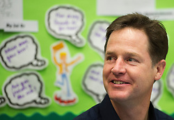 © London News Pictures. 17/12/2013 . London, UK. Deputy Prime Minister NICK CLEGG during a visit to St Clements Danes Primary School in London in which he ate Christmas lunch with the students. Photo credit : Ben Cawthra/LNP