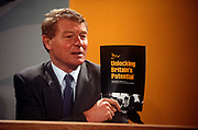 Liberal Democrat leader Paddy Ashdown, presents his partys European Election manifesto, on 16th April 1994, in Torquay, England.
