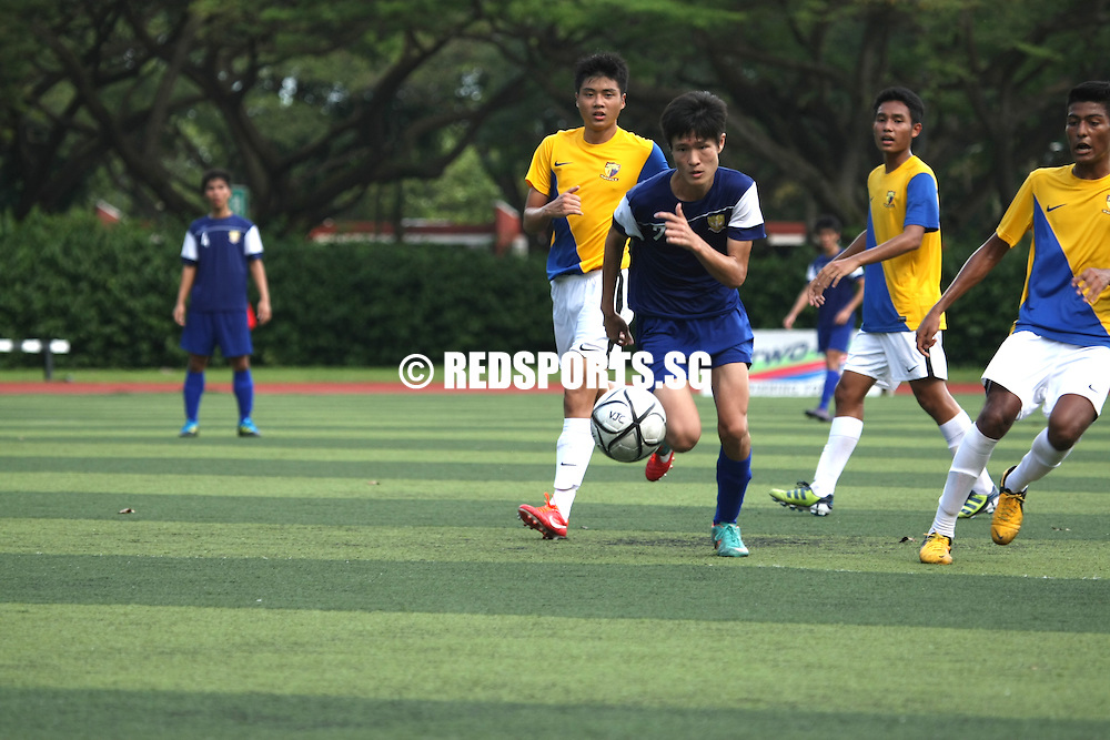 Victoria Junior College, Monday, April 29, 2013 – Anglo-Chinese Junior College (ACJC) beat Catholic Junior College (CJC) 2–0 for their opening Round 2 win in the National A Division Boys' Football Championship.<br /> <br /> Story: http://www.redsports.sg/2013/05/02/a-div-football-acjc-cjc/