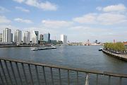 "Skyline of Rotterdam from the "" Erasmusbrug ""."