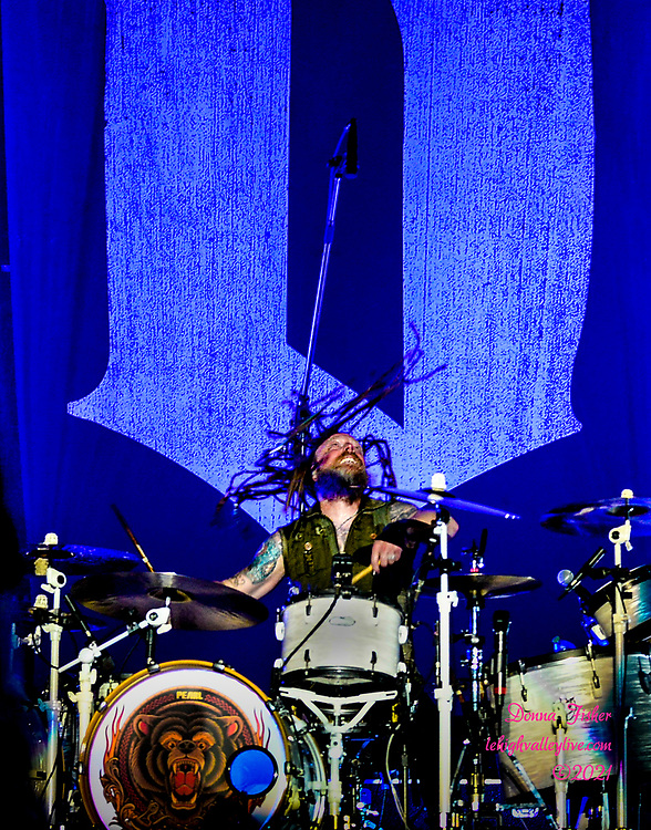 Shinedown performs on Wind Creek Steel Stage on August 9, 2021. Shinedown and Kendell Marvel play at Musikfest on August 9, 2021. Musikfest, a festival of ArtsQuest, is held August 6 –15, 2021 in Bethlehem, Pa..
