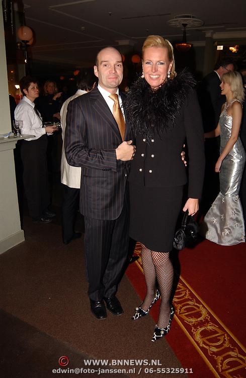 Kerstborrel Princess 2004, Monique Collignon en partner Jan-Henny Holvast
