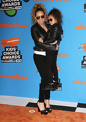The 31st Annual Nickelodeon Kids' Choice Awards at The Forum in Inglewood, California on 3/24/18. 24 Mar 2018 Pictured: Mariah Carey, Monroe Cannon. Photo credit: River / MEGA TheMegaAgency.com +1 888 505 6342