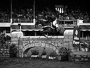 "07/08/1980<br /> 08/07/1980<br /> 07 August 1980<br /> R.D.S. Horse Show: John Player International, Ballsbridge, Dublin.  Pamela Dunning, (Great Britain) on ""Roscoe X"", who won 2nd place in the competition."