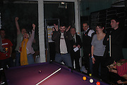 """Official Pre-Brit Awards 2005 Pool Tournament"""" at The Sanderson Hotel February 8, 2005 in London. The party is hosted by Esquire Magazine ONE TIME USE ONLY - DO NOT ARCHIVE  © Copyright Photograph by Dafydd Jones 66 Stockwell Park Rd. London SW9 0DA Tel 020 7733 0108 www.dafjones.com"""