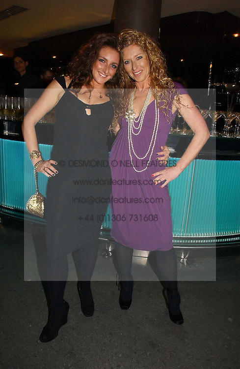 Left to right, NATASHA CORRETT and her mother interior designer KELLY HOPPEN at a party to launch Three's A Crowd held at the Mayfair Hotel, Berkley Street, London on 5th December 2006.<br /><br />NON EXCLUSIVE - WORLD RIGHTS