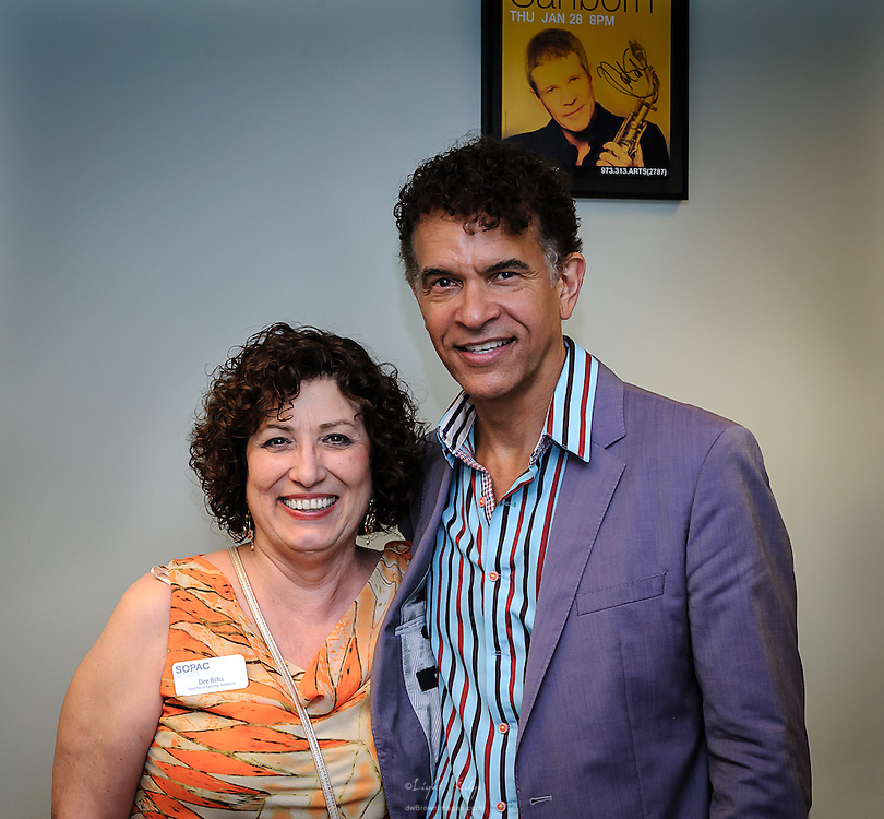Dee Billia with Brian Stokes Mitchell after his performance at the SOPAC 2015 Gala.