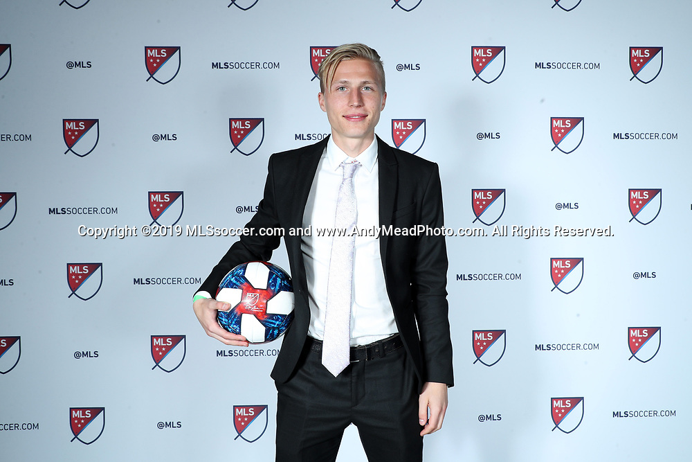 CHICAGO, IL - JANUARY 11: Joel Rydstrand was taken with the 44th overall pick by Seattle Sounders FC. The MLS SuperDraft 2019 presented by adidas was held on January 11, 2019 at McCormick Place in Chicago, IL.