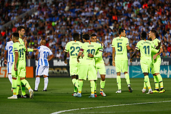September 26, 2018 - Coutinho of FC Barcelona celebrates the goal during the La Liga (Spanish Championship) football match between CD Leganes and FC Barcelona on September 26th, 2018 at Municipal Butarque stadium in Madrid, Spain. (Credit Image: © AFP7 via ZUMA Wire)