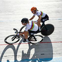 23-07-2020: Wielrennen: baantraining: Assen<br /> Training KNWU baanploeg duur Kirsten Wild en Amy Pieters