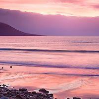 Stunning Sunset Panorama at Rossbeigh Beach, County Kerry, Ireland / kr011